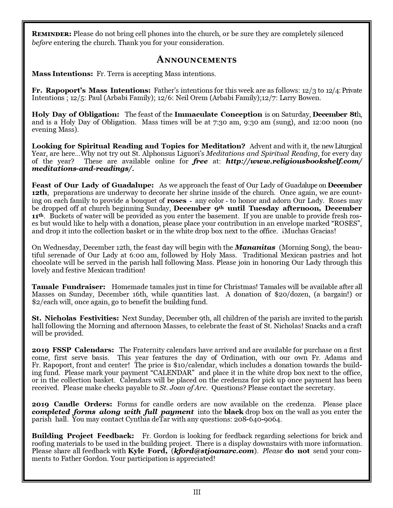 Bulletin 12-2-2018 3 – St  Joan of Arc Catholic Church